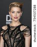 amber heard at the world... | Shutterstock . vector #754537288