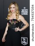 caity lotz at the world... | Shutterstock . vector #754537354