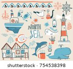 vector doodle illustration.... | Shutterstock .eps vector #754538398