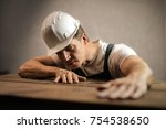 man at work | Shutterstock . vector #754538650