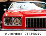 close up of the front headlight ... | Shutterstock . vector #754540390
