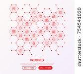 firefighter concept in... | Shutterstock .eps vector #754541020