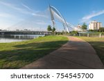 view of the seri wawasan bridge ... | Shutterstock . vector #754545700