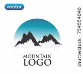 mountain logo vector | Shutterstock .eps vector #754554040