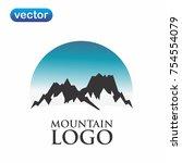 mountain logo vector   Shutterstock .eps vector #754554079