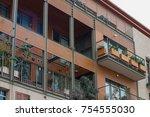 modern balconies at home | Shutterstock . vector #754555030