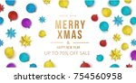 merry christmas and happy new... | Shutterstock .eps vector #754560958