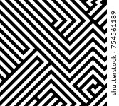 abstract maze   labyrinth ... | Shutterstock .eps vector #754561189