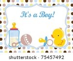 new baby boy | Shutterstock .eps vector #75457492