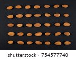 almonds kernels in order ... | Shutterstock . vector #754577740