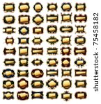 set of golden frames | Shutterstock .eps vector #75458182