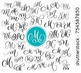set of hand drawn vector... | Shutterstock .eps vector #754587850