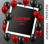 black friday sale poster with...   Shutterstock .eps vector #754591933
