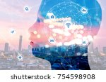internet of things disruption... | Shutterstock . vector #754598908