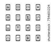 phone icon set | Shutterstock .eps vector #754601224