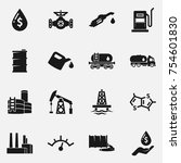 set of oil and gas vector icons. | Shutterstock .eps vector #754601830