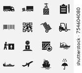 set of delivery  icons. | Shutterstock . vector #754604080