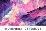 bright artistic splashes.... | Shutterstock . vector #754608736