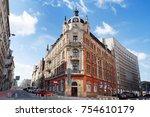 characteristic building in... | Shutterstock . vector #754610179
