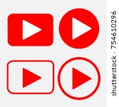 play button icon in trendy flat ... | Shutterstock .eps vector #754610296