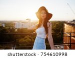 portrait of a flawless young... | Shutterstock . vector #754610998