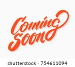 coming soon sign.  | Shutterstock .eps vector #754611094