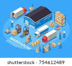 logistics and warehouse concept | Shutterstock .eps vector #754612489