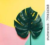 one creative tropical green... | Shutterstock . vector #754616368