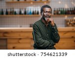 thoughtful african american... | Shutterstock . vector #754621339