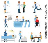 medical workers characters set... | Shutterstock .eps vector #754622296