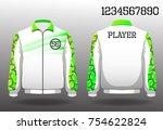 t shirt sport design front and... | Shutterstock .eps vector #754622824