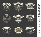 motorcycles logos templates... | Shutterstock .eps vector #754623130