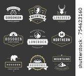 camping logos templates vector... | Shutterstock .eps vector #754623160