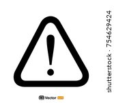 warning icon template | Shutterstock .eps vector #754629424
