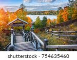 view of the volga river from a... | Shutterstock . vector #754635460
