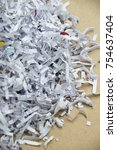 shredded documents   objects | Shutterstock . vector #754637404