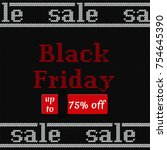 black friday sale poster on... | Shutterstock .eps vector #754645390