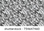 abstract monochrome vector... | Shutterstock .eps vector #754647460