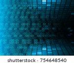 binary circuit board future... | Shutterstock . vector #754648540