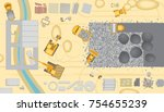vector illustration.... | Shutterstock .eps vector #754655239