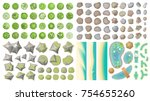set of landscape elements.  top ... | Shutterstock .eps vector #754655260