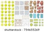 vector set. architectural... | Shutterstock .eps vector #754655269