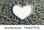 forest in the shape of heart.... | Shutterstock . vector #754657576