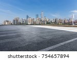 panoramic skyline and buildings ...   Shutterstock . vector #754657894