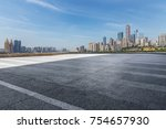 panoramic skyline and buildings ... | Shutterstock . vector #754657930