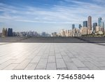 panoramic skyline and buildings ... | Shutterstock . vector #754658044
