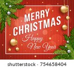 merry christmas poster banner...   Shutterstock .eps vector #754658404