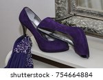 A Purple Evening Dress And...
