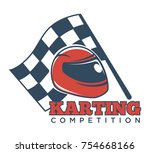 karting competition... | Shutterstock .eps vector #754668166