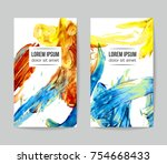 set of vector business card... | Shutterstock .eps vector #754668433